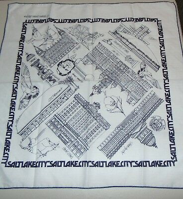 Unique Mormon Utah Bandana Stevens Brown Design Temple State Capital