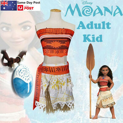 Kids Princess Moana Costume Necklace Girl Fancy Dress Up Cosplay Deluxe AU STOCK