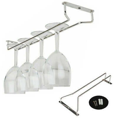 35CM Practical Chrome Plated Wine Glass Cup Rack Holder Hanger Kitchen Tools