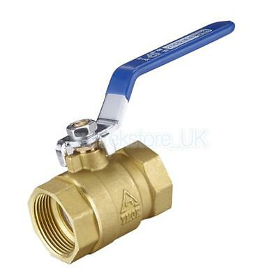 Heavy Duty Brass Ball Valve On Off Switch 1'' NPT Thread Pipe Fitting
