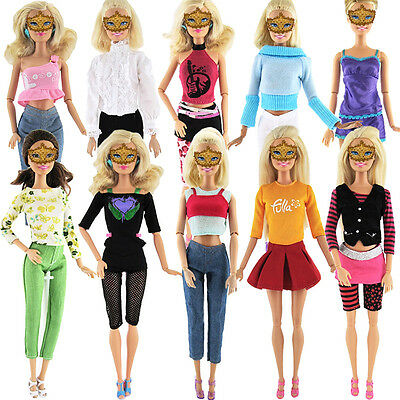 5 Set Various Doll Handmade Clothes Dress Outfit For 11 inch Girl Barbie .AU