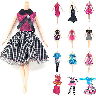 10x New Fashion Princess Party Dress/Evening Clothes/Gown For Doll.AU