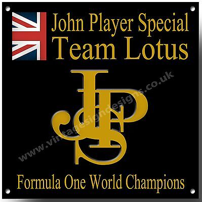 John Player Special Team Lotus Metall Schild, Formel One World Champions Classic