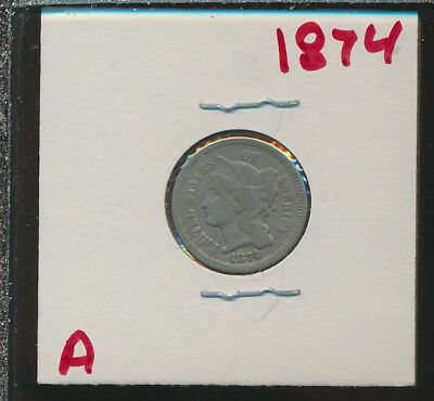 3 Cent Nickel - 1874 - #a