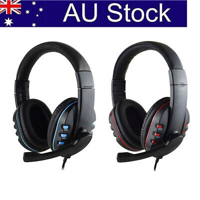 AU!PS4 3.5mm Surround Stereo Gaming Headset Headband Headphone with Mic For PC