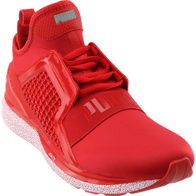 a41ad7ad57c PUMA IGNITE Xt Netfit Mens Red Nylon Athletic Lace Up Running Shoes ...