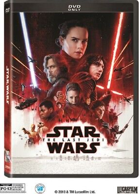 Star Wars Episode VIII The Last Jedi 8 Eight (Mark Hamill Carrie Fisher) New DVD