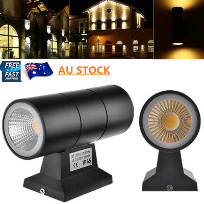 6W Waterproof Up Down COB LED Exterior Wall Light Outdoor Garden Porch Lamps AU