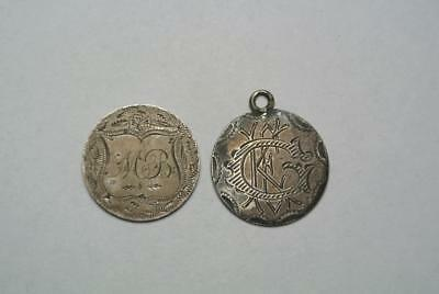 Two Half Dimes Love Tokens 1849 & 1872 - C5285