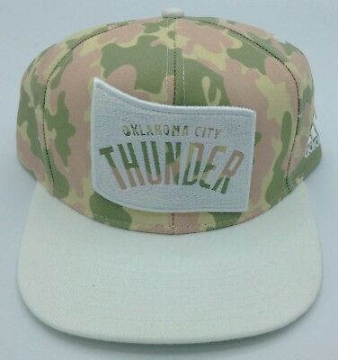 finest selection d9e5b 046c0 NBA Oklahoma City Thunder Adidas Adult Camouflage Adjustable Fit Cap Hat NEW !