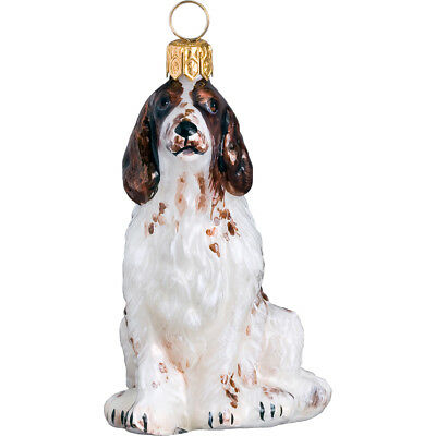 Irish Red and White Setter Dog Blown Glass Polish Christmas Ornament Decoration