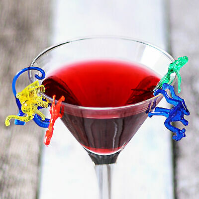 Animals Cocktail Cup Markers - Set of 288 - Plastic Glass Hanger, Wine Charms