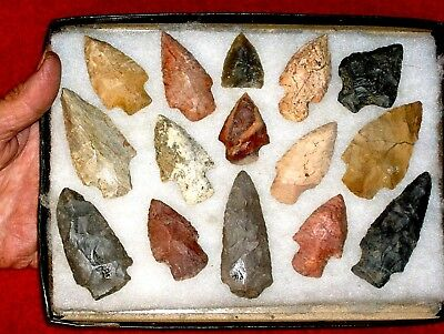 Authentic AL Indian Arrowheads / LOT  4.