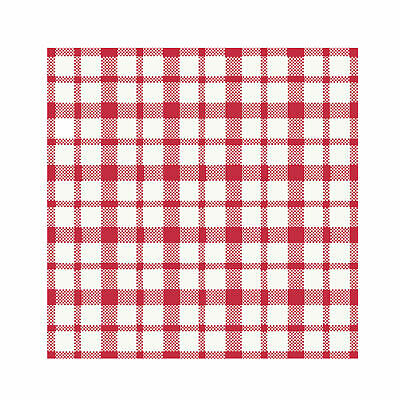 Dunisoft Gingham Napkins Red 33cm 3ply - Pack of 250 - Premium Quality Napkins