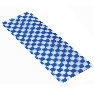 Wax Liners Blue 30cm - x 500 Sheets - Fast Food Basket Liners