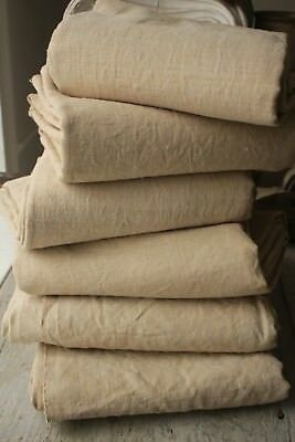 6 MATCHING French linen sheets GLORIOUS Set for upholstery fabric hemp vintage