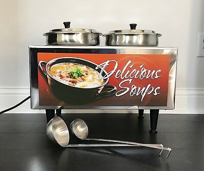 Commercial 51072-S Double 7 QT Soup Food Warmer Station by Benchmark
