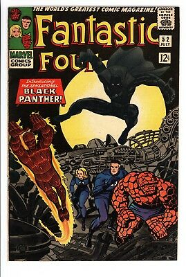 Fantastic Four #52 Vol 1 Very Nice High Grade 1st Appearance of Black Panther