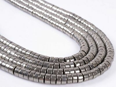 6mm Gemstone pyrite heishi loose beads 15.5""