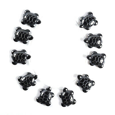 0530 10pcs of 27mm Hematite turtle loose beads