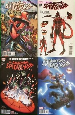 AMAZING SPIDER-MAN #797 ALL 4 COVERS McGUINNESS RED GOBLIN VARIANT THOR RAMOS 2