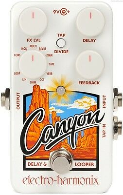 Electro Harmonix Canyon Delay / Reverb / Looper Guitar Effects Pedal 0$ Us S&h