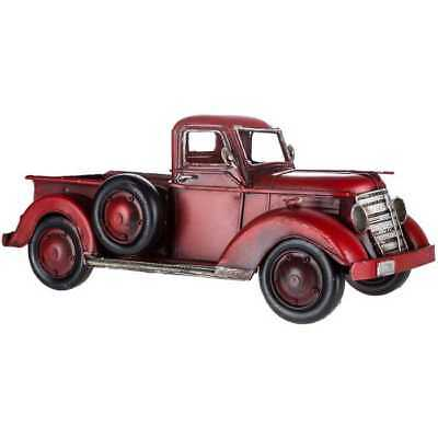 Rustic Vintage Style Red Metal Truck Farmhouse Country Decor