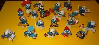 Smurf lot of 20 Smurfs Instant Collection Vintage Classic Display Figurines