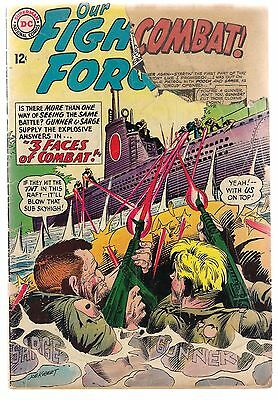 Our Fighting Forces No 86 August 1964 DC Cover Damaged