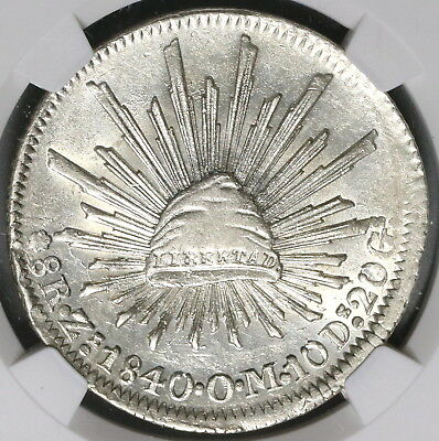 1840-Zs NGC AU 58 MEXICO Silver 8 Reales Coin (17031501CZ)