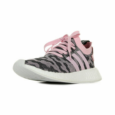 Femme Nmd Textile Primeknit W Rose Lacets Chaussures Adidas Taille Baskets R2 D2IEH9