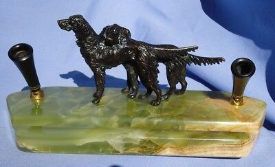 ENGLISH IRISH GORDON SETTER SPRINGER SPANIEL Sheaffer fountain pen desk set