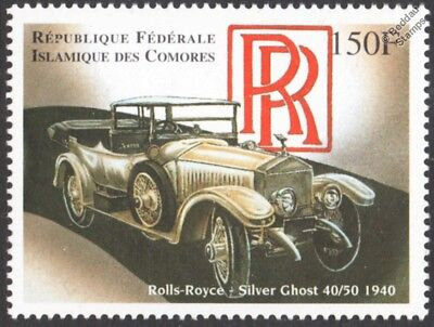 1940 ROLLS ROYCE Silver Ghost 40/50 Classic Car Automobile Stamp (1998 Comoros)