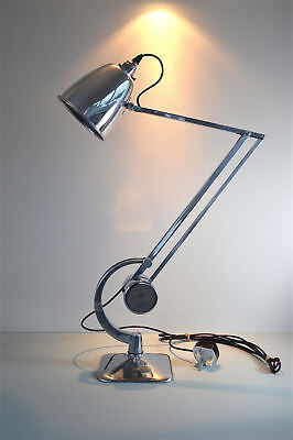 A superb polished Hadrill & Horstmann counterpoised desk lamp 1950's