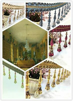 1M beading High-end Fringe Upholstery Curtain Trim Costume/Craft  Curtains AAAA