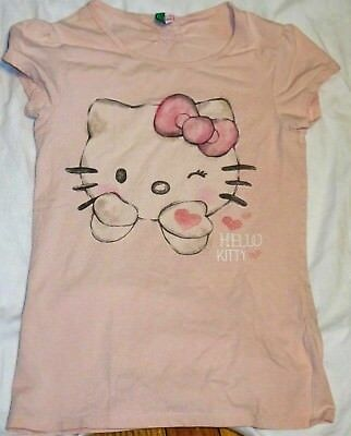 4fc66cc75 United Colors Of Benetton Hello Kitty Sanrio T-Shirt Top Girls Size 11-12