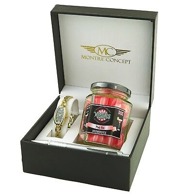 94d68bf790 Wendy's Candies - Coffret cadeau montre et Bonbon Cocktail PINK GIN PG115