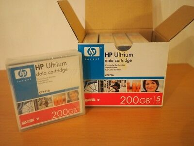 HP C7971AG LTO Ultrium 1 RW Data Cartridge 100 / 200GB 5er-Pack