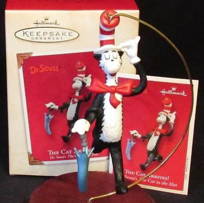 2003 Hallmark The Cat Arrives Dr. Seuss's the Cat in the Hat