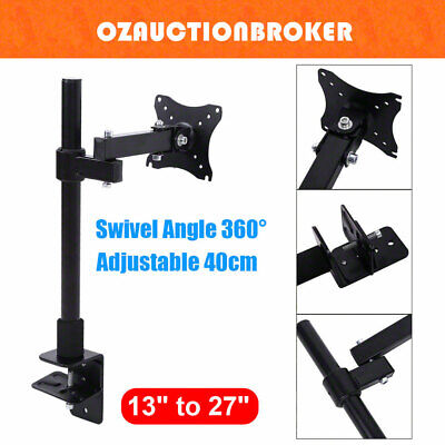Single HD LED Desk Mount Monitor Arm Stand Display Bracket Holder LCD Screen TV