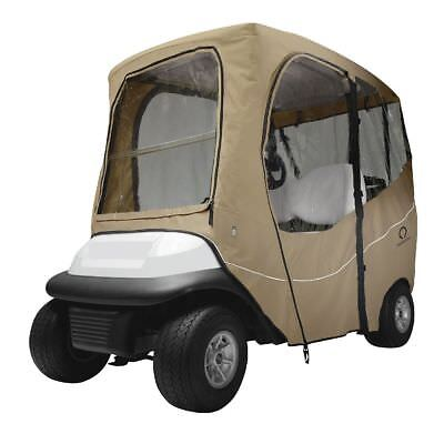 DLX GOLF CAR ENCLOSURE SHORT ROOF, Khaki - Classic# 40-049-335801-00