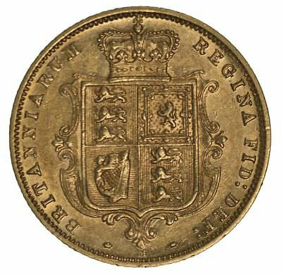 1886 Melbourne Mint Shield Reverse Queen Vic Young Head Gold Half Sovereign EF