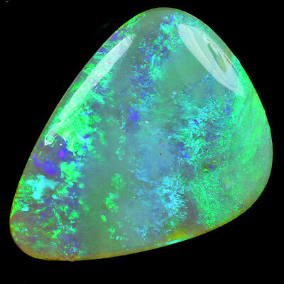 22.41CT 100% Natural Australian Coober Pedy Opal Play Of Color Cab SOAgT14