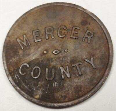 MERCER COUNTY (ILLINOIS) 1/4¢ Sales Tax Token 19mm WG1021