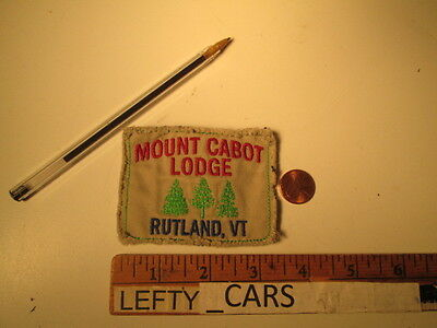 Mount Cabot Lodge Rutland, Vt Embroidered Cloth Patch - Sew On Type