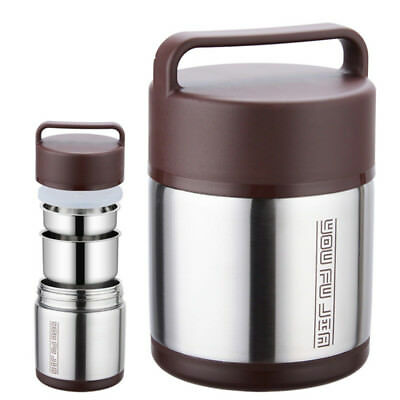 Vacuum Insulated Lunch Box Stainless Steel 3 Tier Jar Hot Thermos Food Container