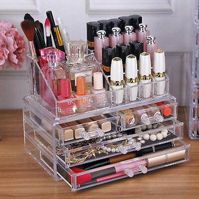 kosmetik organizer make up acryl aufbewahrung beauty kosmetikbox schubladen eur 7 59 picclick de. Black Bedroom Furniture Sets. Home Design Ideas