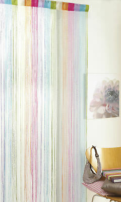Retro Chic Multi Colour Glitter String Door Curtain 90x 200cm Divider Fly Screen