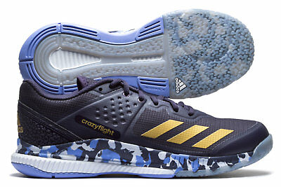 adidas Womens Crazyflight Bounce Netball Trainers Sports Shoes Blue Sports