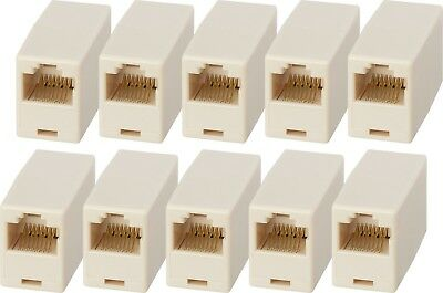 x10 RJ45 LAN Ethernet Network Cable Coupler Female Joiner Cat 5e Cat 6